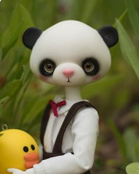 27cm Girl Panda Head