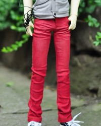 MMP242 Red Washed Jeans