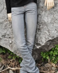 MMP244 Light Grey Washed Jeans