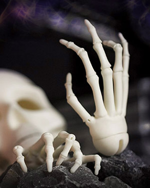 AOD 1/3 Skeleton Jointed Hands - Click Image to Close